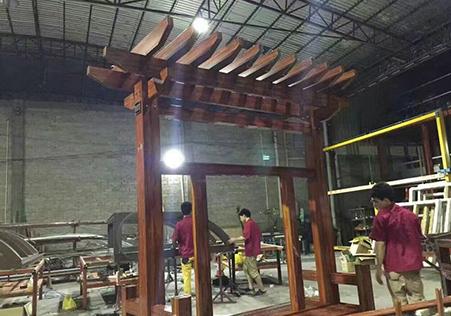 单立柱式葡萄架