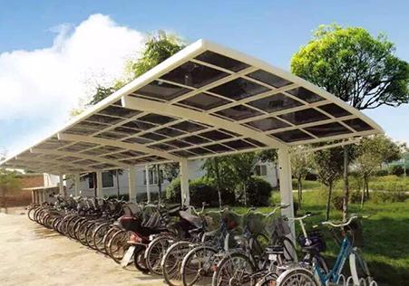 单边式自行车停车棚