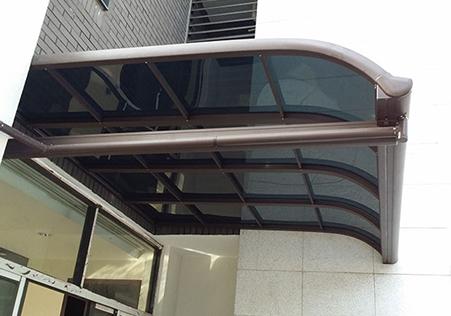 R型窗台遮阳雨棚