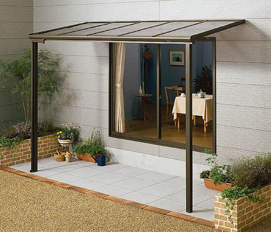 L型露台遮阳雨棚