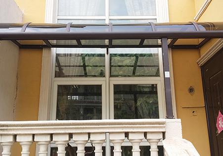 R型露台遮阳雨棚