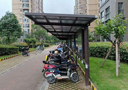 充电桩自行车停车棚