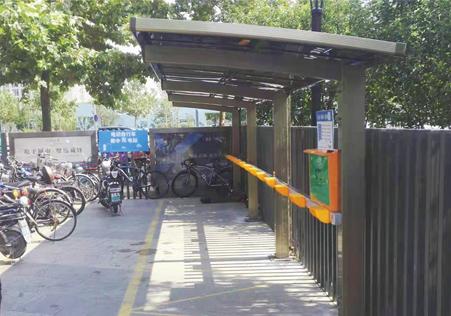 自行车充电桩停车棚