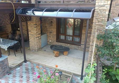 休闲露台遮阳雨棚